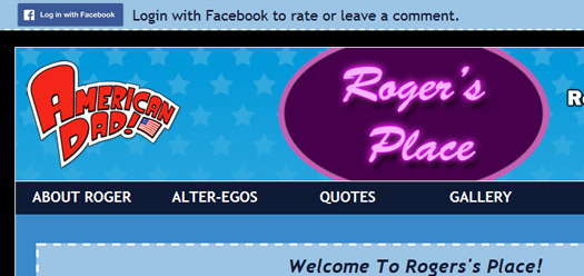 roger the alien fansite website